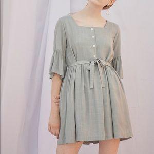 0d7715d726 ... Bibyseob mint green flutter sleeve tunic dress Everlane white oxford  shirt Medium M